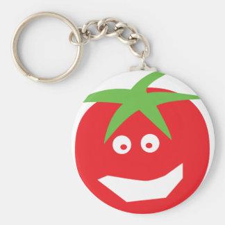 funny red tomato icon key ring