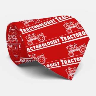 Funny Red Tractor Tie