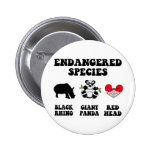 Funny redhead 6 cm round badge