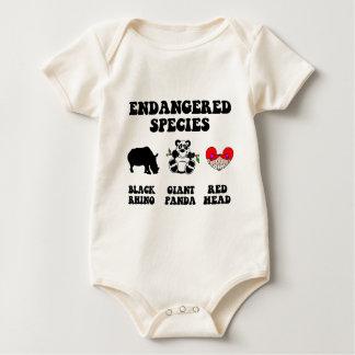 Funny redhead baby bodysuit