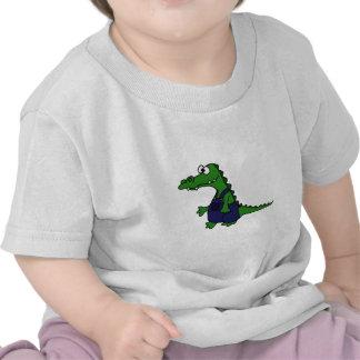 Funny Redneck Alligator in Overalls Shirt