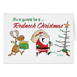 Funny Redneck Christmas Greeting Card