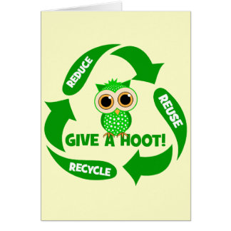 funny reduce reuse recycle card