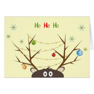 Funny Reindeer Card