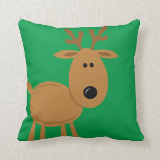 Funny Reindeer Christmas Custom Cushion