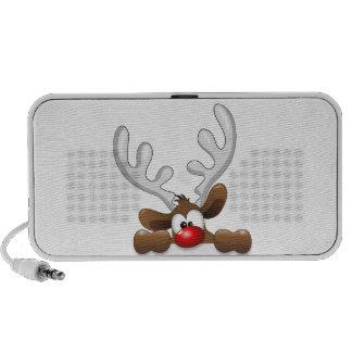 Funny Reindeer Peeking Laptop Speaker