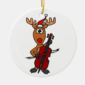 Funny Reindeer Playing Cello Christmas Christmas Ornament
