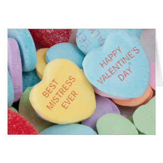 Funny Rejected Candy Hearts Valentine's Day Card Greeting Card