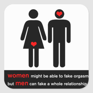 Funny relationships square sticker