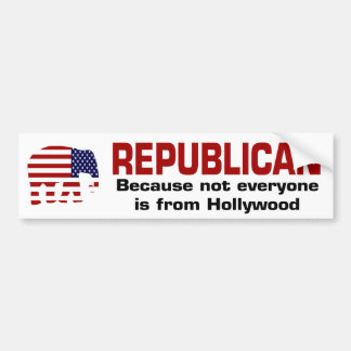 FUNNY REPUBLICAN - Hollywood Bumper Sticker