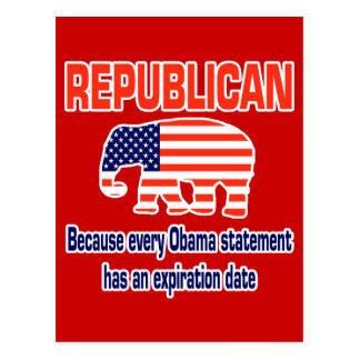 Funny Republican Obama Postcard