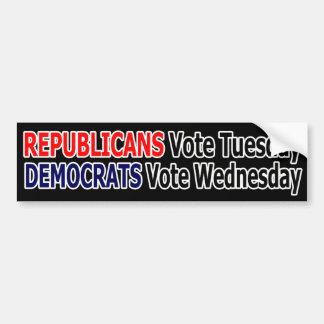 Funny Republican Vote Tuesday Sticker Bumper Sticker