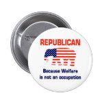 Funny Republican - Welfare 6 Cm Round Badge