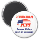 Funny Republican - Welfare 6 Cm Round Magnet