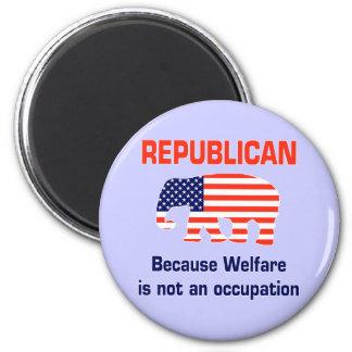 Funny Republican - Welfare 6 Cm Round Magnet