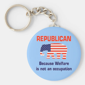 Funny Republican - Welfare Basic Round Button Key Ring