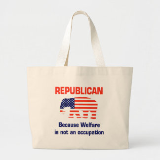 Funny Republican - Welfare Jumbo Tote Bag