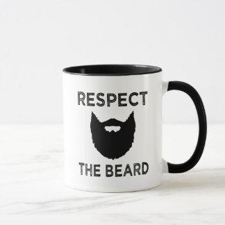 Funny Respect the beard men's coffee mug