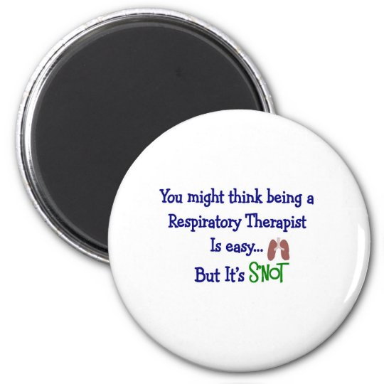 Funny Respiratory Therapy Gifts 6 Cm Round Magnet