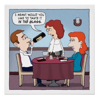 Funny Restaurant Wine Chugger