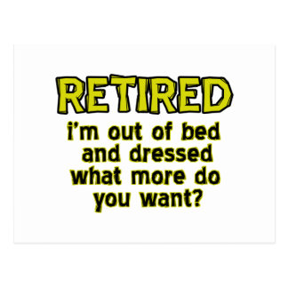 Funny retired designs postcard