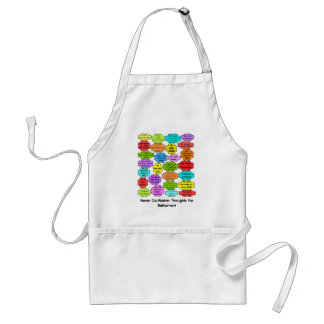 Funny Retired Nurse Gifts Co-Worker Thoughts Standard Apron