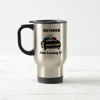 Funny Retired Policeman/ Police Chief Travel Mug