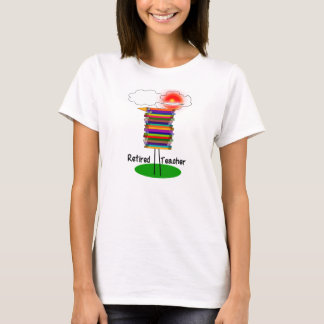 Funny Retired Teacher Book Bird T-Shirt 1