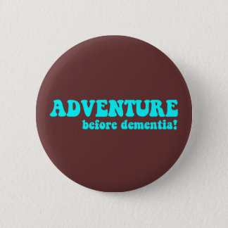 Funny retirement 6 cm round badge