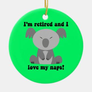 Funny retirement christmas ornament