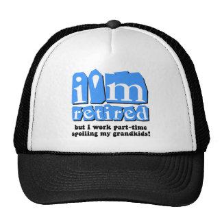 Funny retirement mesh hats