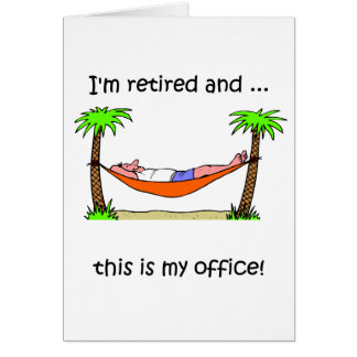 Funny retirement humor card