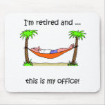 Funny retirement humour mouse mats