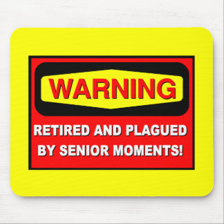 Funny retirement mouse mat