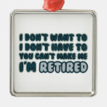 Funny Retirement Quote Christmas Ornaments