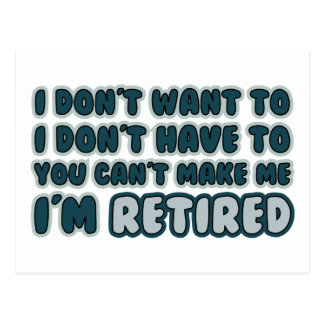 Funny Retirement Quote Postcard