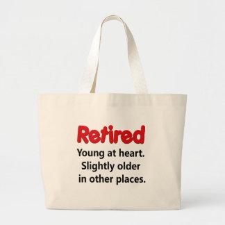 Funny Retirement Saying Jumbo Tote Bag