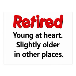 Funny Retirement Saying Postcard