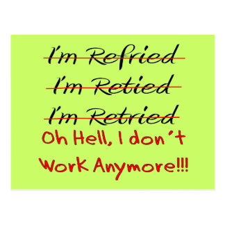 Funny Retirement Shirts and Gifts Postcard