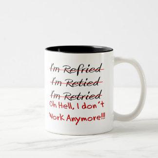 Funny Retirement Shirts and Gifts Two-Tone Mug