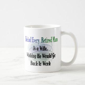Funny Retirement T-Shirts and Gifts Basic White Mug