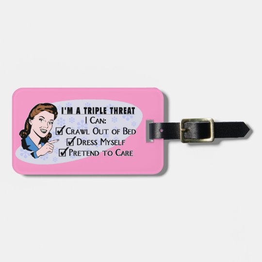Funny Retro 50's Sarcastic Woman: Triple Threat Luggage