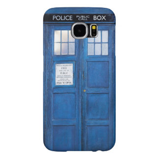 Funny Retro Blue Phone Booth Call Box Samsung Galaxy S6 Cases