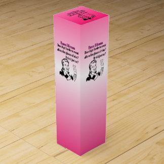 Funny Retro Bunco Gift Wine Box