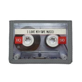 Funny Retro Gray Mixtape Tri-fold Wallet