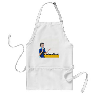Funny Retro Housewife with Washing Machine Standard Apron