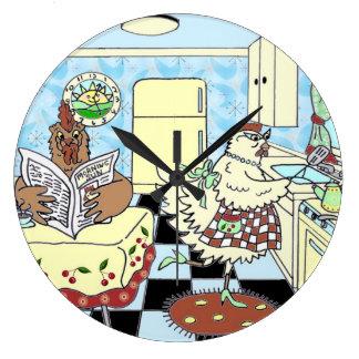 Funny retro kitchen wall clock