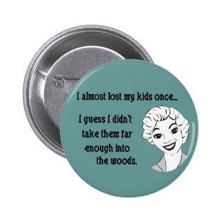 Funny Retro Mom Button