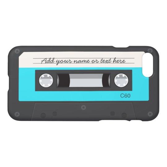 Funny Retro Music Cassette Tape Custom Name iPhone