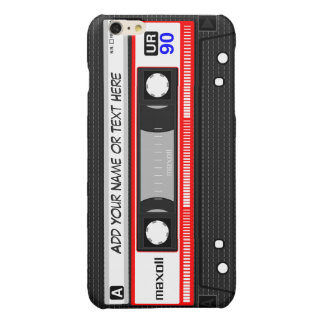 Funny Retro Music Cassette Tape Pattern iPhone 6 Plus Case